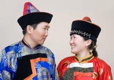Couples mongols photos libres de droits