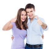 Couples montrant des pouces  Images stock