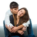 Couples montrant l'affection. Image stock