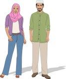 Couples musulmans Photo libre de droits