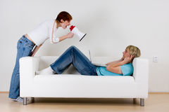 Couples ne communiquant pas Image stock