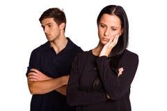 Couples ne parlant pas après argument images libres de droits