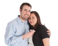 Couples neuf engagés Photo stock