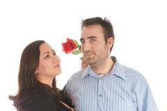 Couples neuf engagés Photographie stock libre de droits