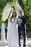 couples Neuf-mariés Images libres de droits