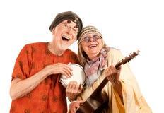 Couples neufs drôles d'âge Photo libre de droits