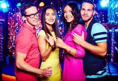 Couples at nightclub Royalty Free Stock Images