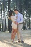 Couples nouvellement engagés images stock