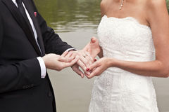 Couples nuptiales Photo stock