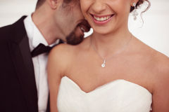 Couples nuptiales heureux Photographie stock