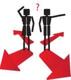 Couples où aller Image libre de droits