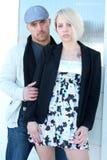 Couples observés bleus Image libre de droits
