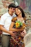 Couples occasionnels dans l'amour images libres de droits