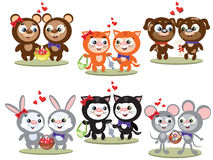 Couples Of Animals Royalty Free Stock Images