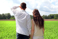 Couples outdoor Stock Photography