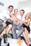 Couples partying Royalty Free Stock Image