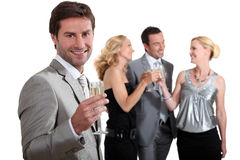 Couples partying Stock Images