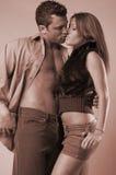 Couples passionnés Image libre de droits
