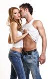 Couples passionnés Images libres de droits