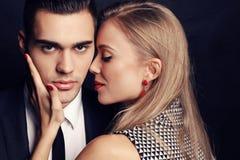Couples passionnés sexy, histoire d'amour de bureau Photographie stock