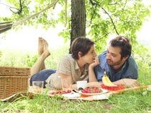 Couples pendant une PIC-MIC Photographie stock