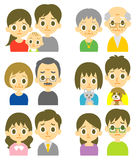 Couples perplexed expression Royalty Free Stock Photos