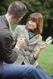 Couples by picnic Royalty Free Stock Photo