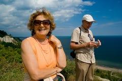 Couples plus anciens actifs Photo stock
