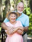 Couples plus anciens affectueux Image stock