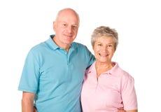 Couples plus anciens heureux Photo libre de droits