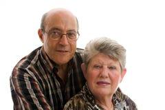Couples plus anciens heureux Photographie stock