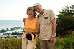Couples plus anciens heureux Photo stock