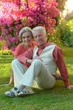 Couples pluss âgé à la station de vacances Photographie stock libre de droits