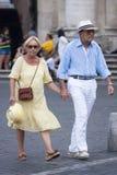 Couples pluss âgé élégants Images libres de droits