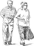 Couples pluss âgé Illustration de Vecteur