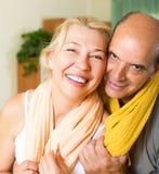 Couples pluss âgé après la formation Image stock