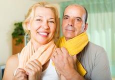 Couples pluss âgé après la formation Images stock