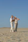 Couples pluss âgé dans l'amour Images stock