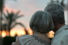 Couples pluss âgé dans l'amour Photos stock