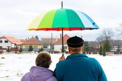 Couples pluss âgé de marche Image stock
