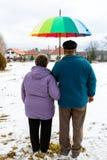 Couples pluss âgé de marche Photos libres de droits