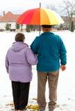 Couples pluss âgé de marche Images libres de droits