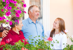 Couples pluss âgé heureux Image stock