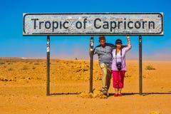 Couples pluss âgé heureux des touristes Photographie stock libre de droits