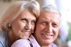 Couples pluss âgé heureux Image libre de droits