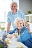 Couples pluss âgé sains photo libre de droits