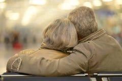 Couples pluss âgé sur la nature Photographie stock