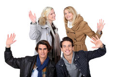Couples posing together Royalty Free Stock Image