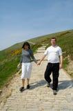 Couples pour une promenade image stock