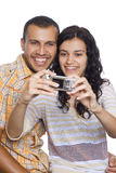 couples prenant la photo Images stock
